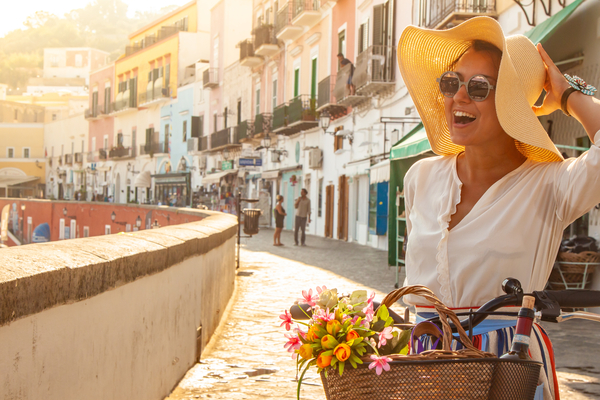 Woman in Ponza, Italy