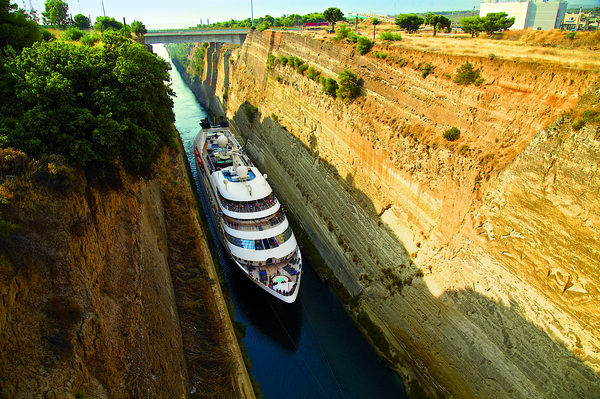 Star Plus ship transiting the Corinth Canal