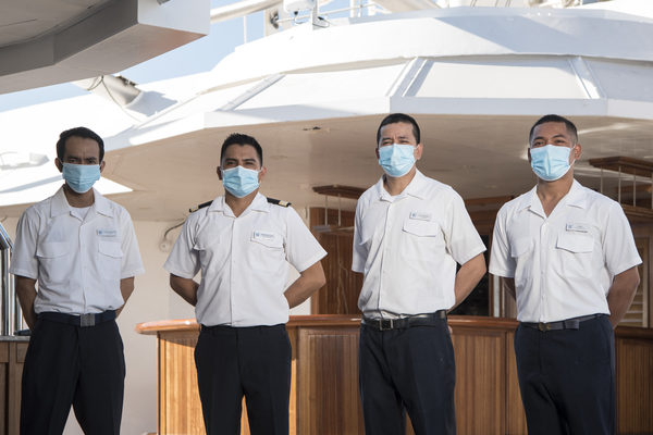 Star Grill Crew all in masks