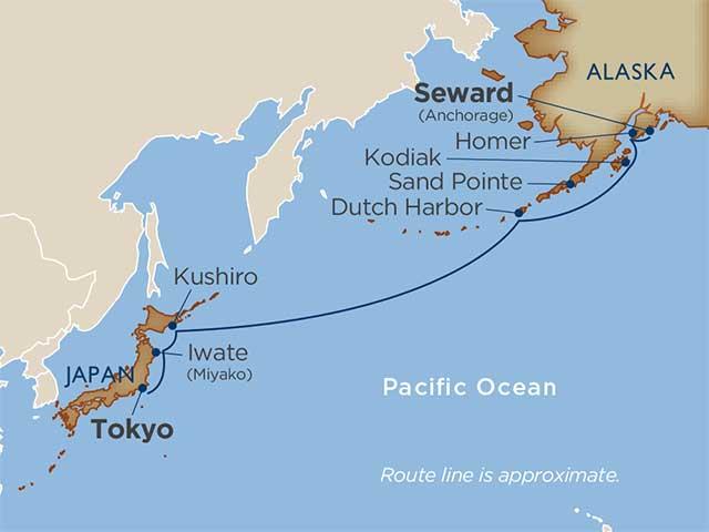 Aleutians & North Pacific Crossing