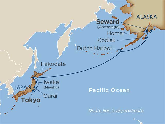 Aleutians & North Pacific Crossing