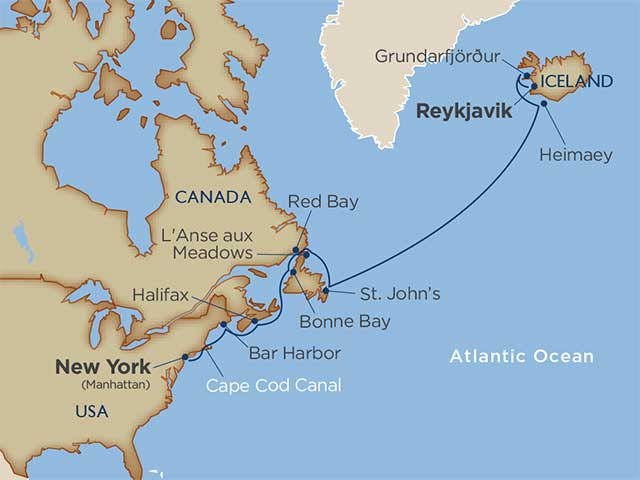 Journeys of the North Atlantic