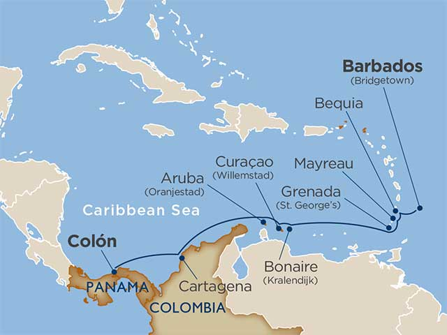 Colombian & Southern Caribbean Coastlines