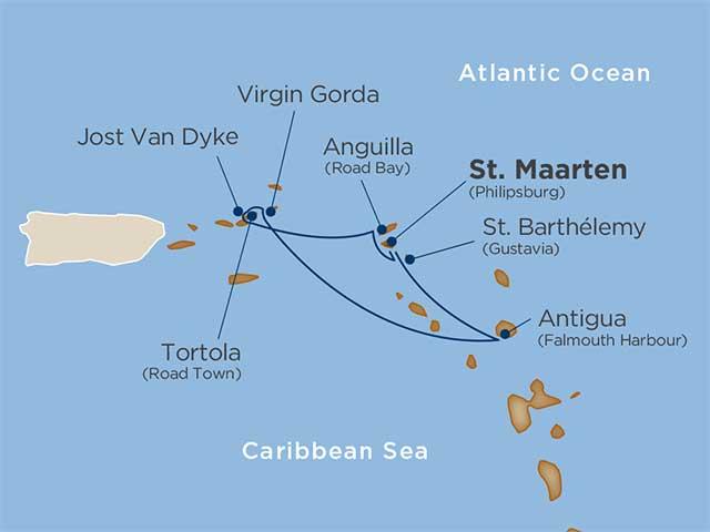 Yachtsman's Caribbean Cruise Map