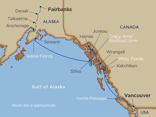 Alaskan Explorations & Denali Cruise Tour