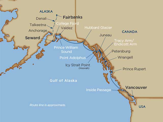 Prince William Sound & Denali Cruise Tour