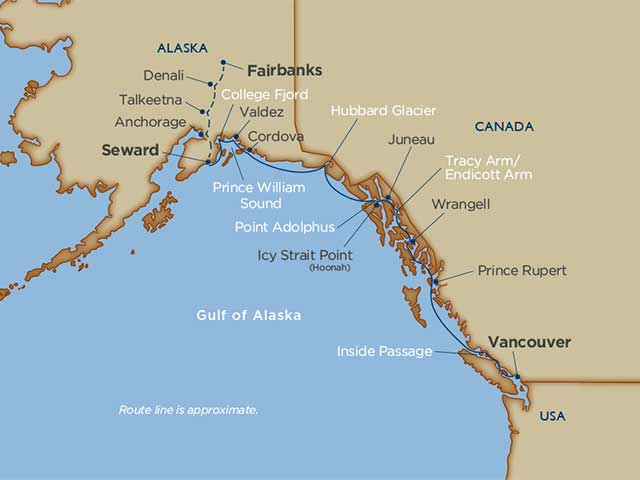 Prince William Sound & Denali Cruise Tour