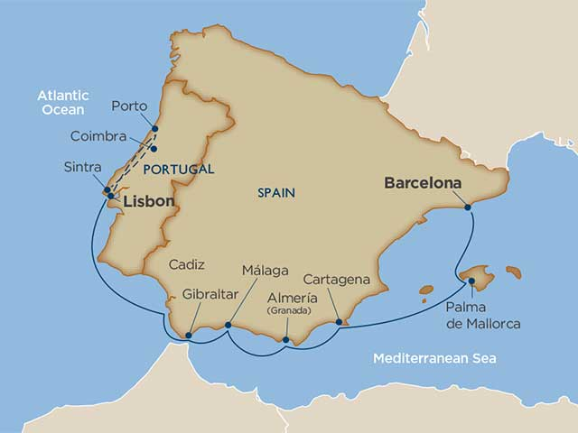 Portuguese Passages & Spanish Shorelines Cruise Tour