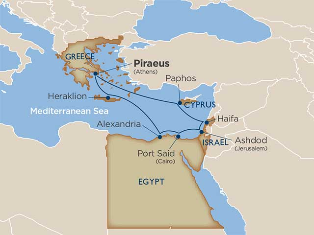 Cruise Itinerary And Ports Greece Israel And Egypt Footsteps Of