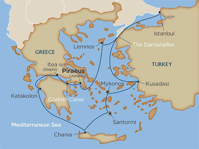 Greece via the Corinth Canal & Turkey: The Marvels of Ancient Rivals