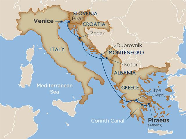 Secrets of Croatia & Greece via the Corinth Canal