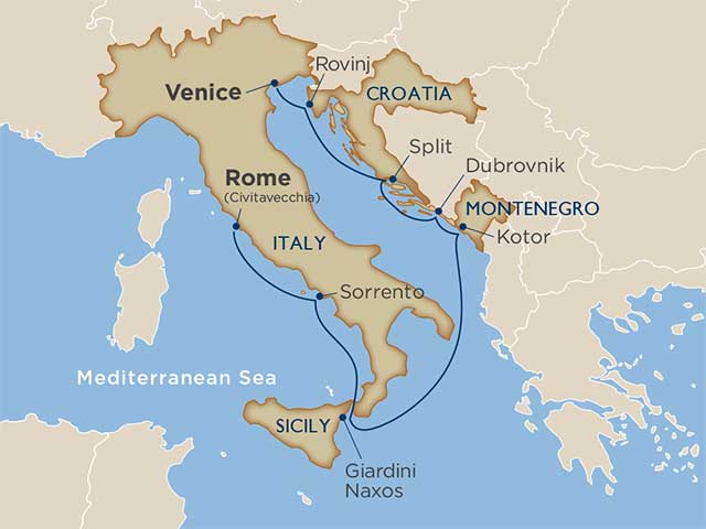 Italy Cruise Itinerary Map