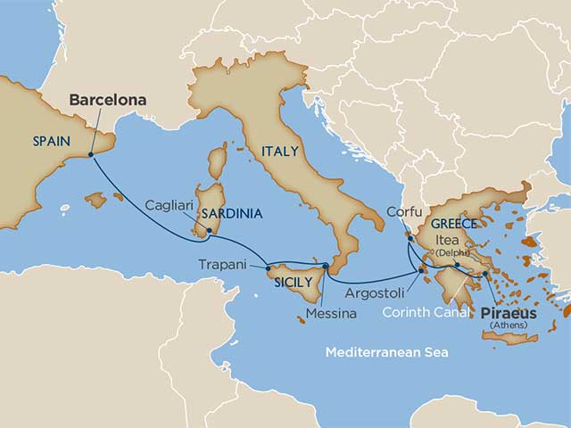 A Piece of Greece, a Slice of Sicily & the Corinth Canal