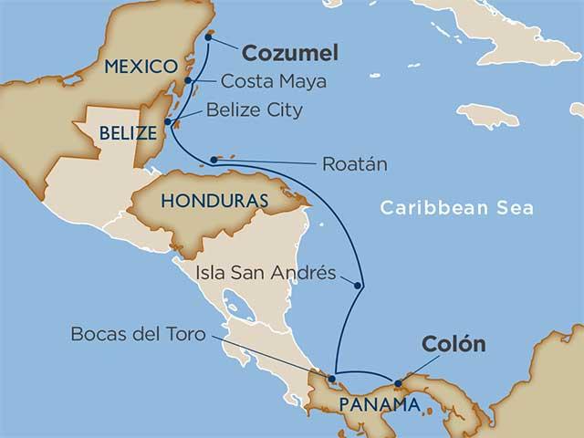Cruise Itinerary and Ports | mayan legacies |