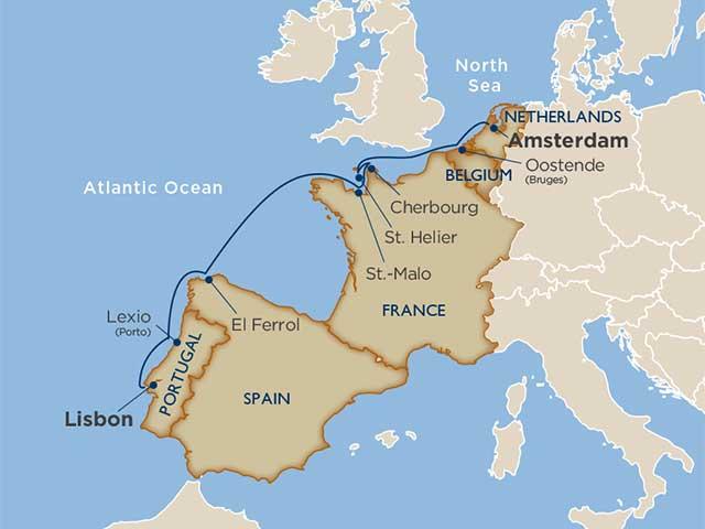 Northern Europe Cruise Itinerary Map