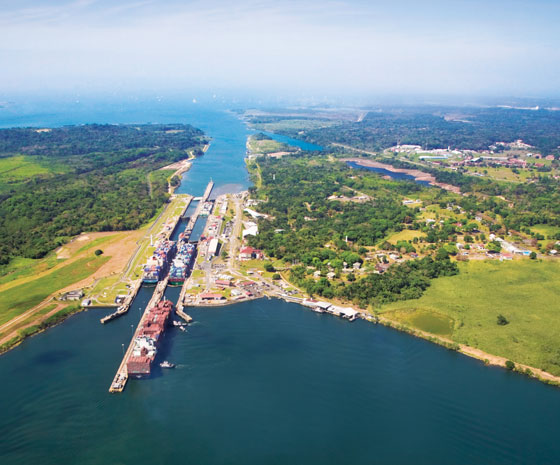 Tropical Escape Through the Panama Canal