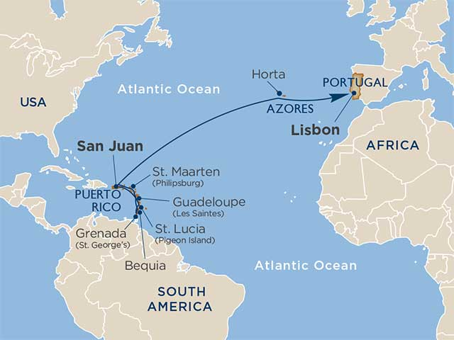 Star Collector: Caribbean Sun & Portuguese Port: Transatlantic Crossing