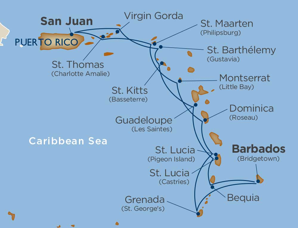 Star Collector Voyages Cruise Itinerary Map
