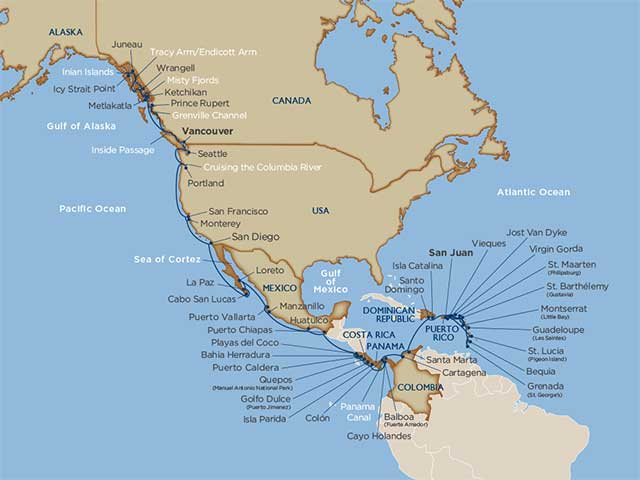 Star Collector: Grand West Coast, Central America & Caribbean Exploration