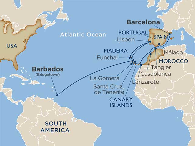 Star Collector: Moroccan Markets, Canary Island Vineyards: A Transatlantic Crossing cruise