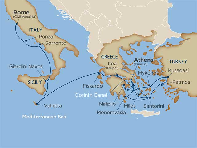 Cruise Itinerary And Ports Star Collector Mythical Mediterranean