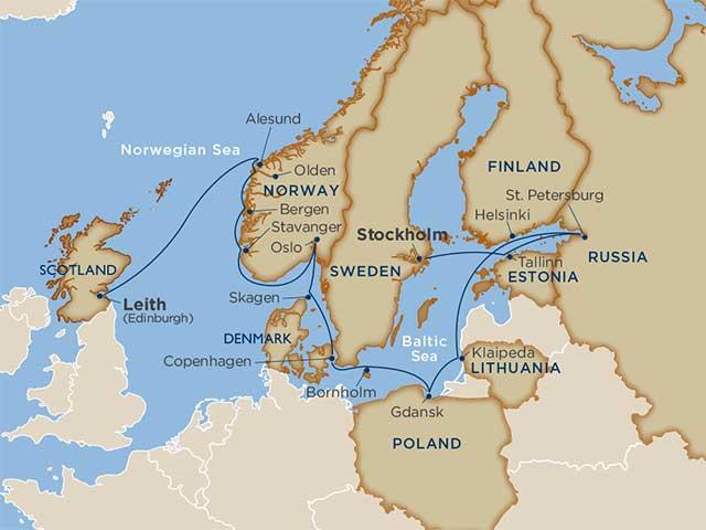 Star Collector: Norwegian Fjords & Baltic Beauty
