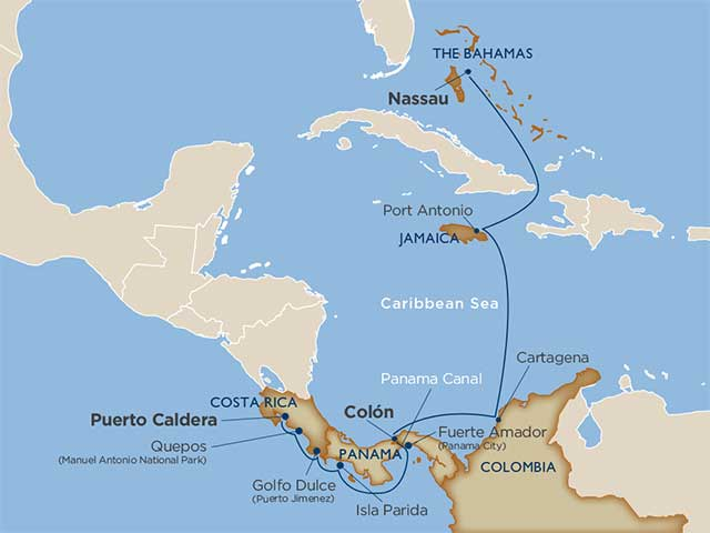 Star Collector:  Rainforests & Rum Refreshments—Costa Rica to the Bahamas via the Panama Canal