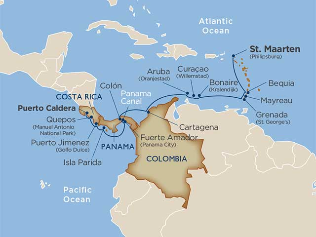 Reefs & Rainforests: The Caribbean, Colombia, Panama & Costa Rica via the Panama Canal cruise