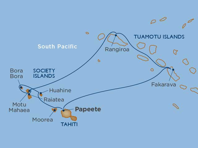 map tahiti cruise