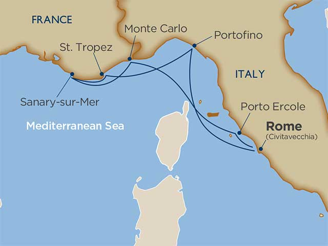 Themed Cruises Cruise Itinerary Map