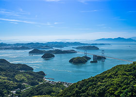 Scenic Cruising Seto Inland Sea, Japan
