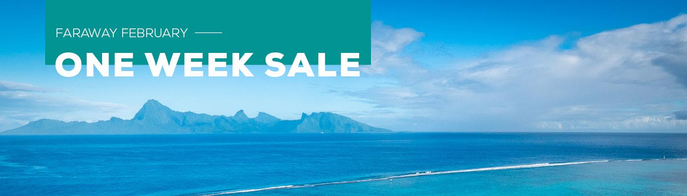 february one week sale
